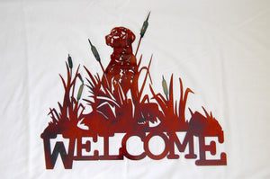 Lab Welcome Metal Sign