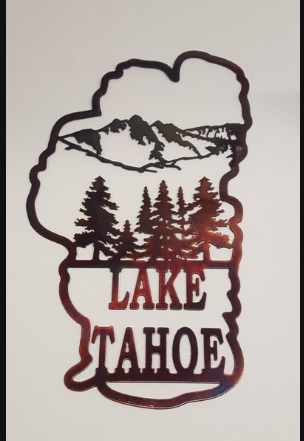 LAKE TAHOE METAL SIGN