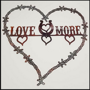 Love U More Metal Sign