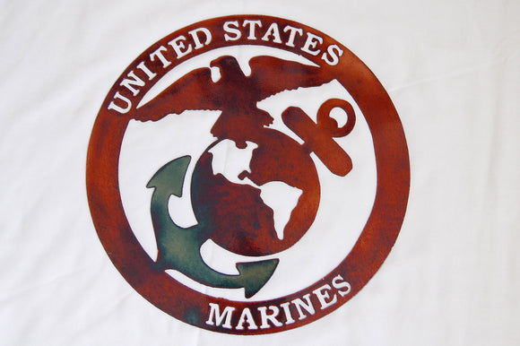 US Marines Metal Sign