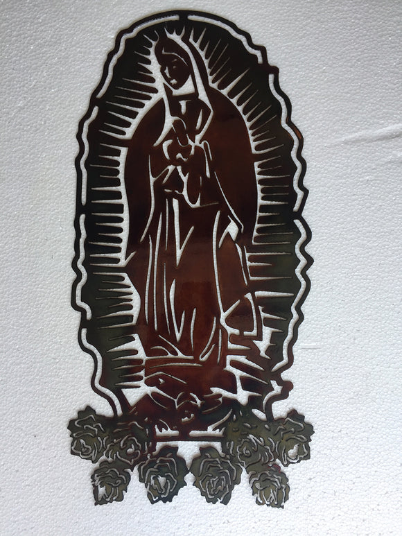 VIRGIN MARY Copper Metal Sign