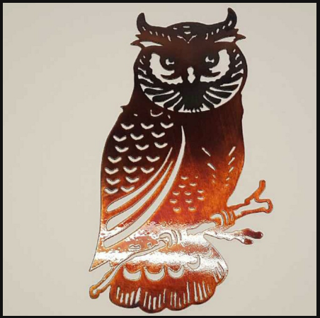 Owl Metal Sign