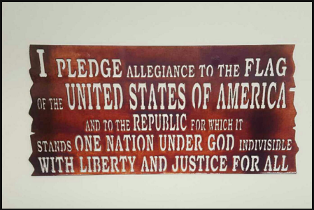PLEDGE OF ALLEGIANCE Metal Sign 24x12