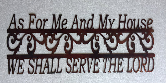 SERVE THE LORD Copper Sign