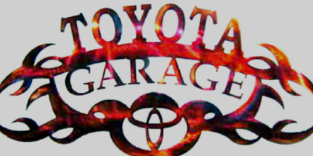 TOYOTA GARAGE METAL SIGN