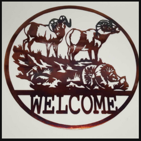 Big Horn Sheep Circle Welcome