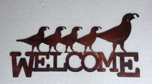 Chukar Welcome Metal Signs
