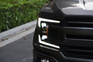 (PRESALE) 2018-2020 FORD F-150 ELITE SERIES LED PROJECTORS - BLACK BEZEL