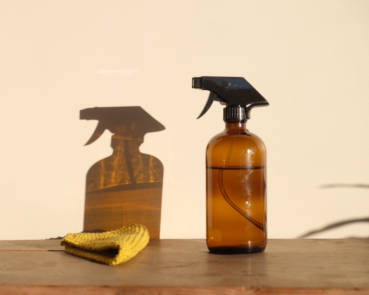 Amber Glass Spray Bottle