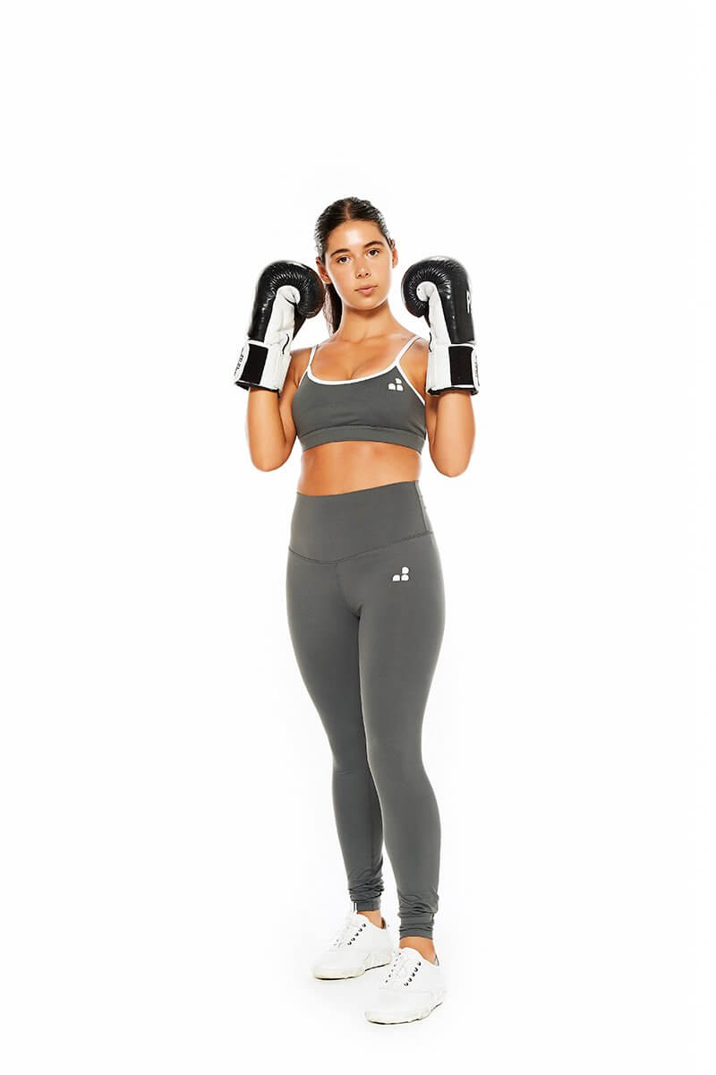 ORIGINAL ADJUSTABLE GREY SPORTS BRA