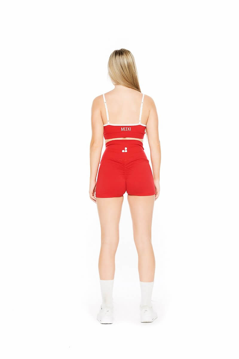 Original red high waist shorts