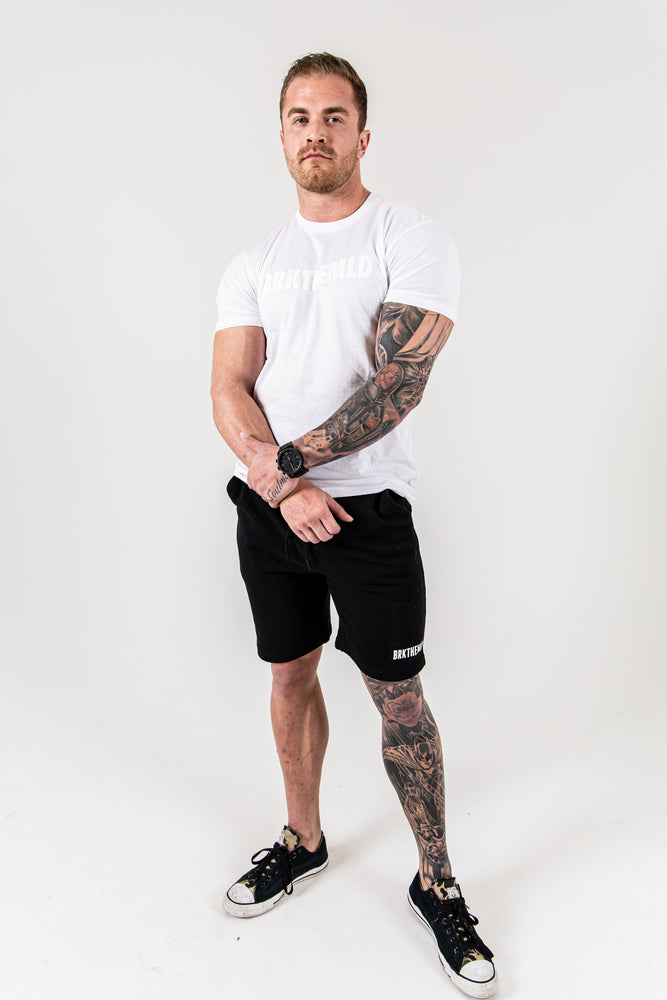 Load image into Gallery viewer, Men's BRKTHEMLD SweatShorts - Black