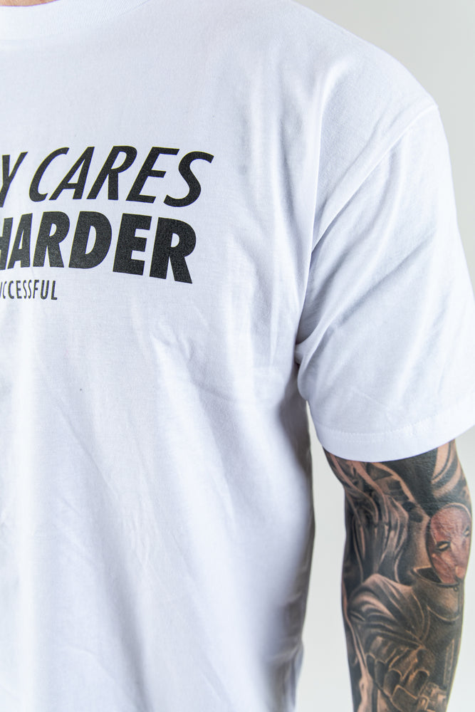 Load image into Gallery viewer, Men's Nobody Cares Work Harder T-Shirt - White