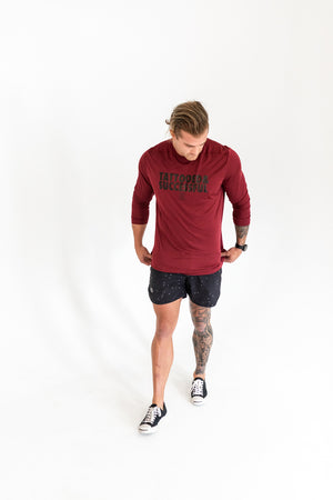 Load image into Gallery viewer, Men's Performance Tech Long-Sleeve Shirt - Maroon
