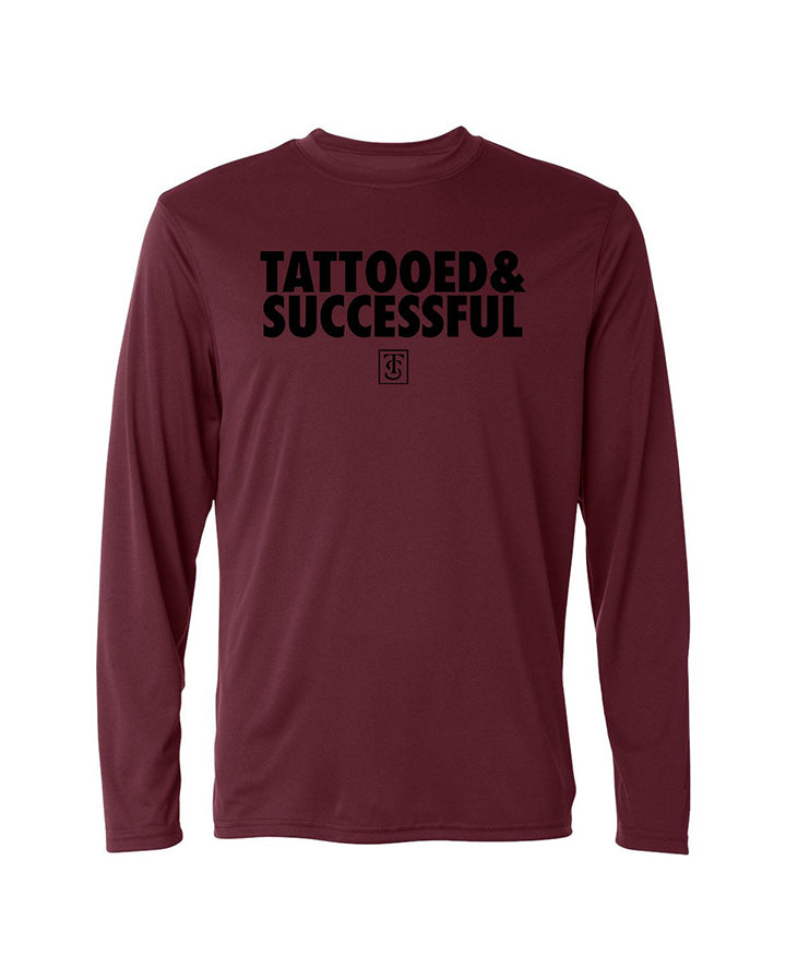 Men's Performance Tech Long-Sleeve Shirt - Maroon