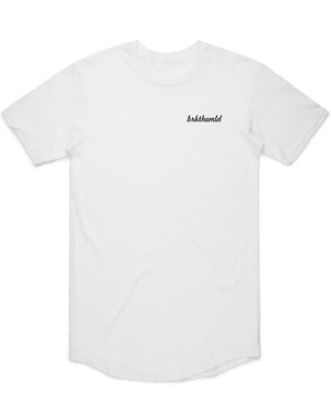 Load image into Gallery viewer, Men's brkthemld Curved Hem T-Shirt - White