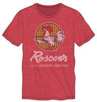 Roscoe's Chicken N Waffles Men's Red Heather T-Shirt - coolfuel