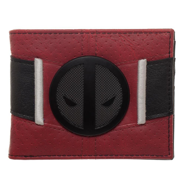 Red and Black Deadpool Uniform BiFold Wallet, Marvel Anti-Hero Costume Style Wallet, ID Holder - coolfuel