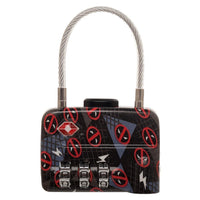 Marvel Comics Deadpool Logo TSA Approved Travel Combination Cable Luggage Lock for Suitcase Baggage - coolfuel