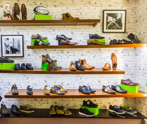 gents shoes on display