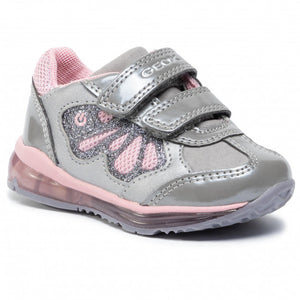 Silver Butterfly Light Up Girls Runner