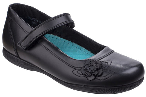 Hush Puppies Girls Black School Shoe Mia