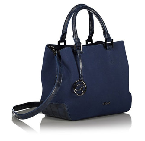 AXEL VERA BLUEBERRY SHOULDER HANDBAG