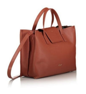 AXEL SiMONA BOMBAY BROWN HANDBAG