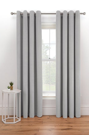 Thermal Velour Ring Top Curtains 100% Polyester