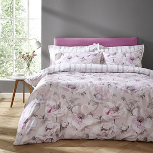 Blush Arctic Poppy 100% Cotton Luxury Duvet Set