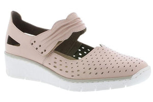 Rieker Blush Pink Strap Ladies Shoes