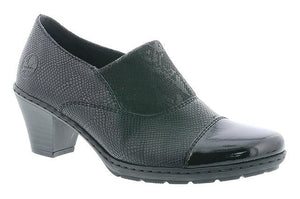 Rieker Ladies Patent slip On Shoe
