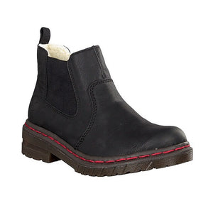 black fleece lined chelsea boot