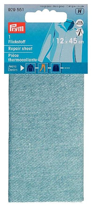 Prym Light Denim Repair Sheet 100% Cotton
