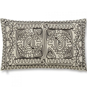 Corded Embroidered Filled Cushion