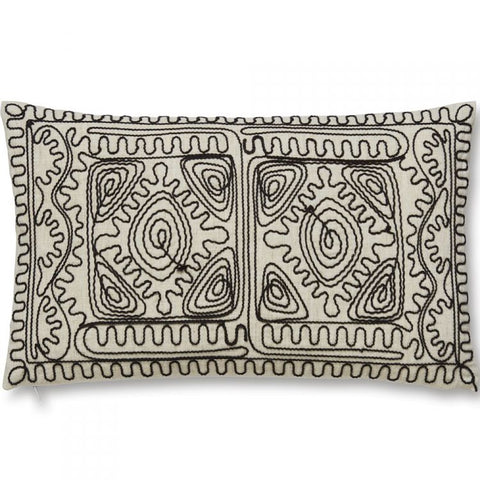 Bianca Corded Embroidered Filled Cushion