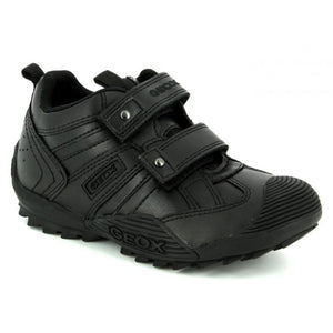 Geox Boys Black School Double Velcro School Shoes
