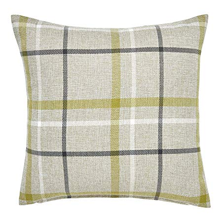 Hudson Woven Green Check Cushion Cover