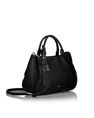 Black shoulder bag side view