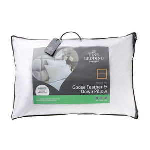 Goose Feather & Down Pillow | The Fine Bedding Company