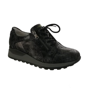 Dark Grey Laced Ladies Shoes for Orthotics