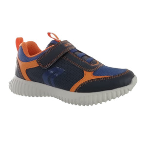 Geox Waviness Navy Orange Boys Trainer