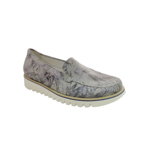 Habea Meadow Blue Ladies Slip-on Shoes