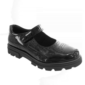 Patent black Mary Jane school shoe