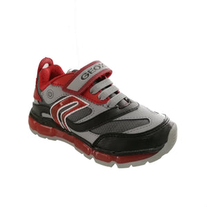 Grey & red runner with velcro strap & bungee lace