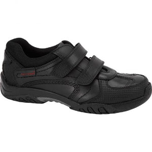 Jezza Black Leather Back to School Shoes