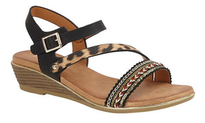 Halter Back Wedge Sandals