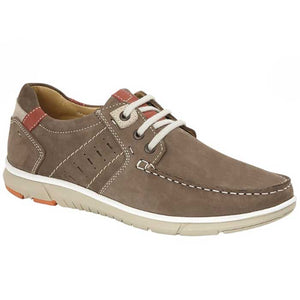 brown nubuck laced mens shoe