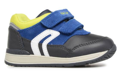 Geox Grey/ Navy Shoe B840ra