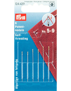 Prym Self-Threading Needles Set of 6